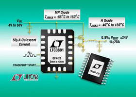 Synchronous Step-Down DC/DC Controller draw as little as 50 µA.