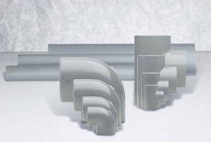 Piping Systems feature large diameter molded fittings.
