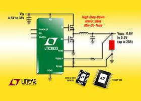 Step-Down DC/DC Controller offers differential output sensing.