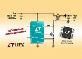 Isolated Flyback DC/DC Controller operates up to 150°C.