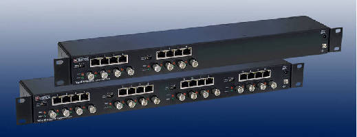 Ethernet Hubs provide transition from analog to digital CCTV.
