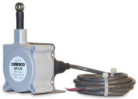 String Potentiometer offers 4-20 mA and 0-10 Vdc output.