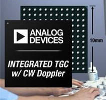 Octal Ultrasound Receiver ICs consume as little as 25 mW/channel.