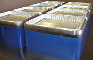 Tooling System enables thermoforming above and below sheet line.
