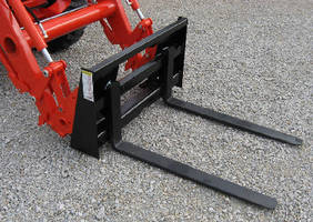 Pallet Forks fit compact tractors up to 40 hp.