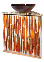 Meyda Tiffany Introduces Custom Fused Glass Vanity/Bowl Combination for Kitchens and Baths