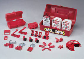 Lockout/Tagout Kit helps ensure safety in industrial plants.