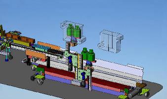 Servo Takeaway System works with shuttle type blowmolders.