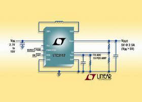 Buck-Boost DC/DC Converter features intgrated power MOSFETs.