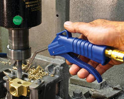 Safety Air Gun provides focused blast of airflow.