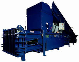 Horizontal Baler features semi-automatic wire feeder.