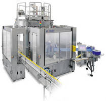 Rotary Container Labeler combines sleeving, roll-feed technologies.