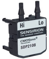 Extended Range DP Sensor measures medical ventilation air flow.