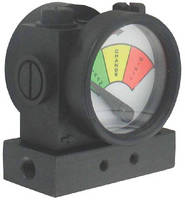 Process Filter Gage indicates in-line filter status.