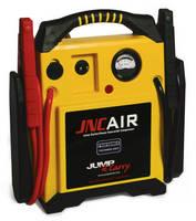 Automotive Jump Starter features industrial air compressor.