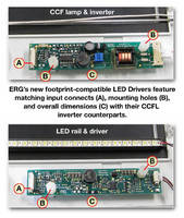 New LED Drivers from Endicott Research Group Offer Drop-In Replacements for CCFL Inverters