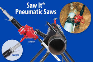 Pneumatic Saws have multiple safety features.