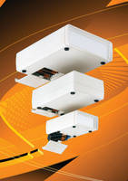 Plastic Electronic Enclosures accept 4 battery combinations.