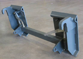 Skid Steer Adapter features all-welded design.
