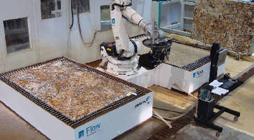 Robotic Waterjet and Saw System optimizes countertop cutting.