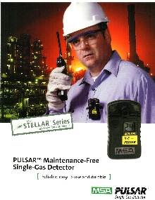 Gas Detector is available with peak reading capability.