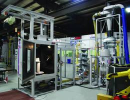 Robotic Shot Peener is designed to handle turbine blade roots.