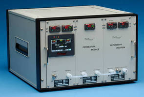 Gas Standards Generator offers varied concentration, constant flow.