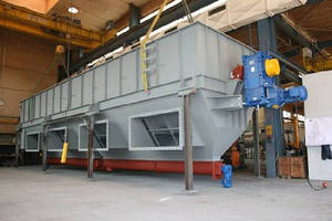Rolling Bed Dryer handles Green and organic waste.