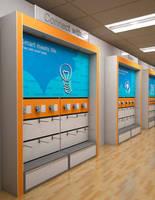 Wireless Merchandising Display affords flexible adaptability.
