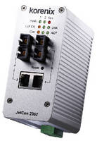Fiber Media Converter features 3.2 Gbps switch fabric.