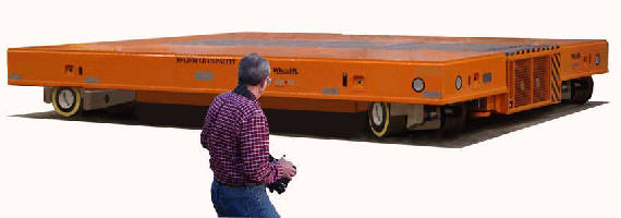Self-Propelled Trailer operates in confined areas.