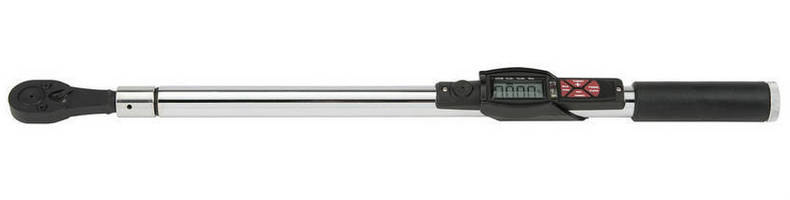 Electronic Torque Wrenches feature fixed ratcheting head.
