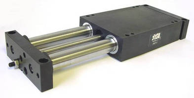 Linear Actuator Slides are pneumatically powered..