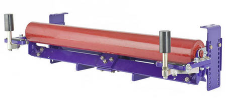 Conveyor Belt Tracker incorporates pivot and tilt technology.