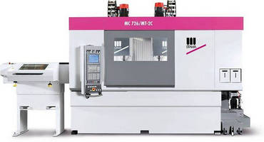 Mill/Turn Machining Center allows 6-sided processing of parts.