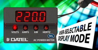Datel ACM20 Series Extends Range with Industry's First Digital Low-Power Panel Meters for Testing AC-Powered Products