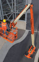Telescopic 150 ft Boom Lift delivers work envelope flexibility.