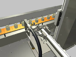 Outsert Applicator uses hot melt glue for heavy outserts.