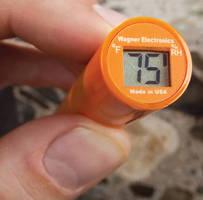 RH/Temperature Meter measures RH in concrete slabs.