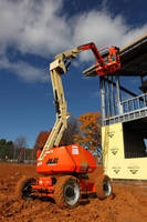 Aerial Boom Lift offers maximum height of 34 ft.