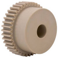 Precision Spur Gears come in Delrin and Peek materials.