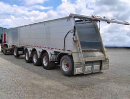 Aggregates Hauling Trailer has 2,000 lb payload capacity.