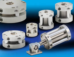 Compact Pneumatic Cylinders are constructed of stainless steel.