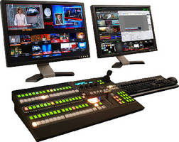 Video Production System features single mix/effect control panel.
