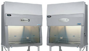 Biosafety Cabinets feature 10° sloped sash.