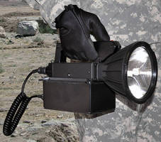 Handheld Searchlight is powered by lithium iron phosphate battery.