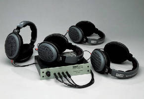Headphone Amplifier facilitates sound quality testing.