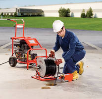 Water Jetter clears blockages in 2-10 in. dia drains.