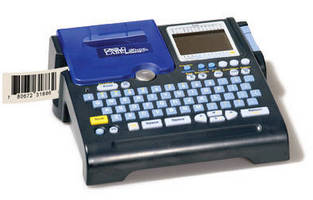 Portable Labeling and Barcode Machine is battery- or AC-powered.