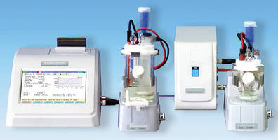 KF Coulometric Titrator determines trace level water content.